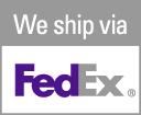 We proudly ship via FedEx