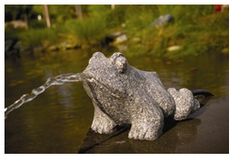Stone Décor Stone Frog Spitter